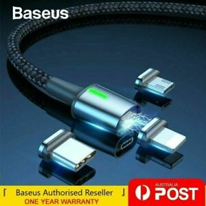 Baseus Magnetic Type-C Apple Lightning Micro USB Cable Fast Charging Data Cable