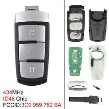 Uncut Flip Remote Key Fob Chip 3C0959752BA Fit for VW Passat B6 3C B7 Magotan CC