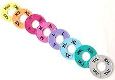 Lularoe 16 Pcs Colored Clothing Round Rack Size Dividers Xxs 3xl 2 Pcssize