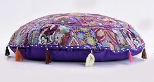 "32"" Bohemian Patchwork Ottoman Vintage Indian Moroccan Chair Bean Bag Floor Pouf"