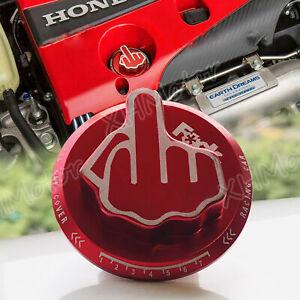 JDM RED Screw-In Middle Finger Oil Filler Tank Cap Valve Cover For Honda Acura