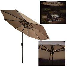 72 DEL solaire Garden Parasol Umbrella Chain Light 8 Strut Fairy String Lights