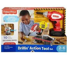 fd13218e6 Fisher Price Drillin' Action Set 2 Wood piece fine motor skills imagination  play