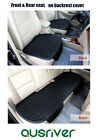 New Universal 3Pcs PU Leather Car Seat Cover Set Front & Rear Antiskid Black
