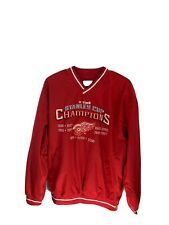 NHL Detroit Red Wings Pullover Windbreaker 11 Time Stanley Cup Size large Hockey