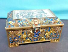 ANTIQUE RUSSIAN SILVER GILT & ENAMEL MARKED FABERGE, BOX