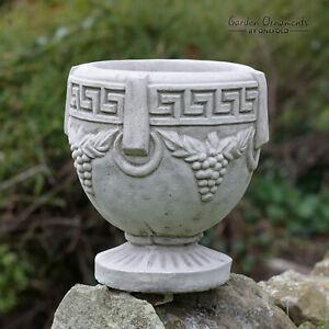 VINE POT Hand Cast Stone Garden Ornament Flower Planter Basket Vase ⧫by ONEFOLD
