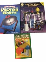 Lot of 3 Books Science Fair Projects 150+ Science Experiments Science Surprises