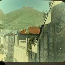 Magic Lantern Glass Slide Photo Algiers Africa The Citadel Oran Color