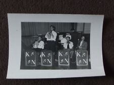 "SMALL SWING / JAZZ BAND PLAYING AT A DANCE  VTG 1950""s  PHOTO"