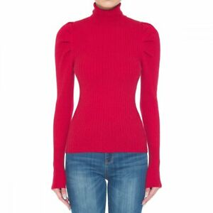 S M L Women Turtle Neck Sweater Long Sleeve Ribbed Stretch Fitted Solid Bodycon