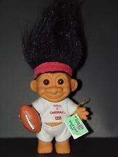 "Troll Doll 4 1/2"" Russ NFL Football St. Louis Cardinals Black Hair"
