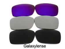 Galaxy Replacement Lenses For Oakley Crankcase Black&Titanium&Purple 3 Pairs