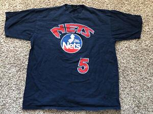 Vintage New Jersey Nets Jason Kidd Reebok 2XL Shirt Jersey USA Made VTG
