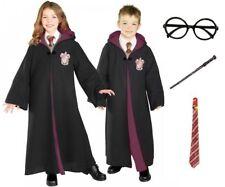 BOYS GIRLS ADULTS HARRY POTTER LICENSED DELUXE FANCY DRESS COSTUME ROBE KIDS