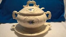 < 00004000 span class=&quot;newly&quot;>New listing Vintage pottery soup tureen sauce or gravy bowl, one quart, lid ladle underplate