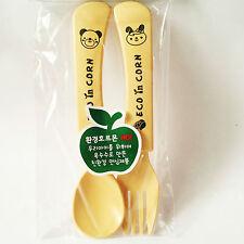 Eco in Corn Kid's Spoon & Fork Set Eco Friendly & Non-Toxic BPA Free Korean prod