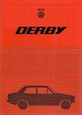 Volkswagen Derby LS 1978 UK Market Foldout Sales Brochure