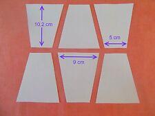 100 Bloc Tumbler modèles pour Patchwork-Papier-Nouvelle Forme-grande taille