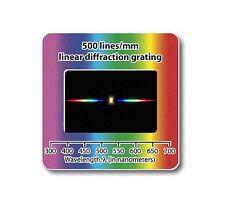Réseau de diffraction 500 lignes/mm Diapositive filtre bonnette ovni ufo