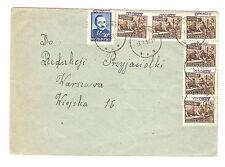 Polen Briefmarken Brief von 1951 Groszy Aufdruck Mi 628, 659