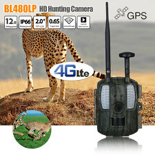 """12MP 1080P 4G LTE Game Trail Camera GPS Wildlife Scouting Hunting 2.0"""" LCD IP66"""