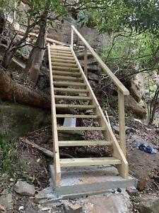 External Pine Timber Stairs