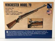 Winchester Model 70 Rifle .30-06 Firearms Atlas Photo Spec History Card