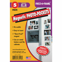 Freez A Frame Clear Magnetic Photo Frame Pockets For 4x6 Photos 5 Pack