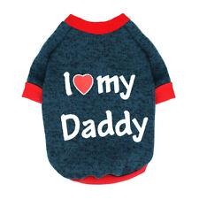 I Love Mummy/Daddy puente de perro pequeño cachorro suéter Ropa Mascota Gato Para Yorkie Pug