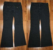 Mavi Women's Jeans Size 28 X 32 ROMY Premium Black Denim Flare Cotton Blend EUC