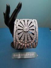 Paula Abdul Signature Chunky Cuff Crystal Bracelet Vintage Jewelry