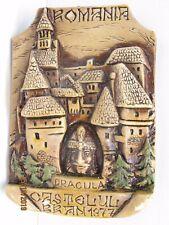 Vintage Romania Souvenir HandMade Castle Bram Plaque Dracula  Vlad 1977