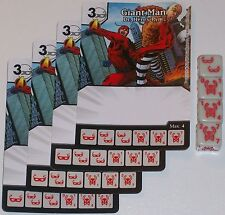 4 X  GIANT MAN DR. HENRY PYM 45/142 Age Of Ultron Dice Masters