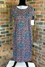 LuLaRoe Julia Fitted Simply Comfortable Dress Mid Sleeve NWT Size: XXS  (#X)