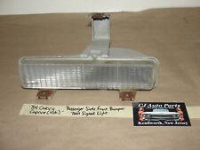 84 Chevy Caprice 4 Door RIGHT PASSENGER FRONT BUMPER TURN SIGNAL PARK LIGHT LENS