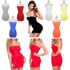 women's Sexy stretch wild party packet hip wrapped chest short skirts Tops Dress