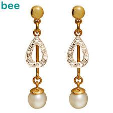 Pearl Gold Diamond Fine Earrings
