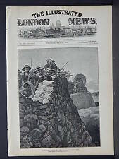Illustrated London News Cover B&W S6#14 May 1879 Men of HMS Shah at Ginghilovo