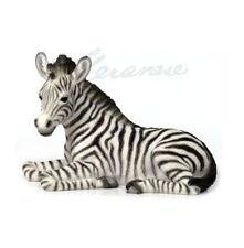 Baby Zebra Kneeling Statue Sculpture Figure - Home Decor