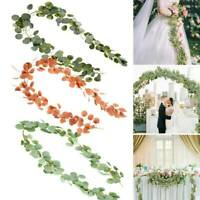 6.56ft Artificial Eucalyptus Garland Plants Foliage Fake Leaves Ivy Vine Wedding