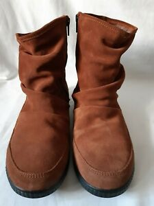 Ladies Suede Short Hotter Boots Faux Fur Lined Size 7  41