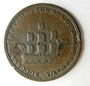 1812 UPPER CANADA CENT - RARE TYPE - BROOK - Excellent Vintage Coin - Lot #L27