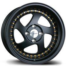 (1) Avid1 AV19 15X8 Rims 4x100 +25 Black Wheel Rim
