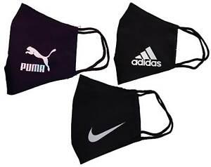 Mascherina Nike Puma Adidas uomo/donna/ragazzo unisex filtro tnt tasca