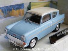 FORD ANGLIA MODEL CAR 1:43 SIZE BLUE/CREAM CR025 251XND CARARAMA 1960'S T34Z