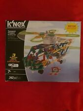 K'NEX Transport Chopper Motorised Building Set 11413. Helicopters Plane 500g