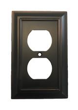 Brainerd W10086-Bzm Architectural Single Duplex Outlet Cover Plate Matte Bronze