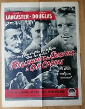 REGLEMENTS DE COMPTES A O.K. CORRAL affiche cinema originale 80x60 '56 western