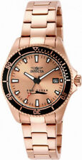 Invicta Pro Diver 15137 Women's Round Brushed Rose Gold Tone Analog Date Watch